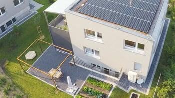 Einfamilienhaus mit Photovoltaikanlage und Wärmepumpe