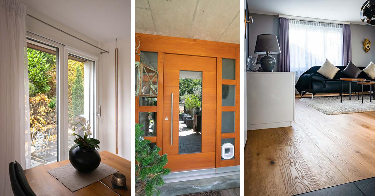 Fenster, Türen und Bodenbeläge vom Schreiner